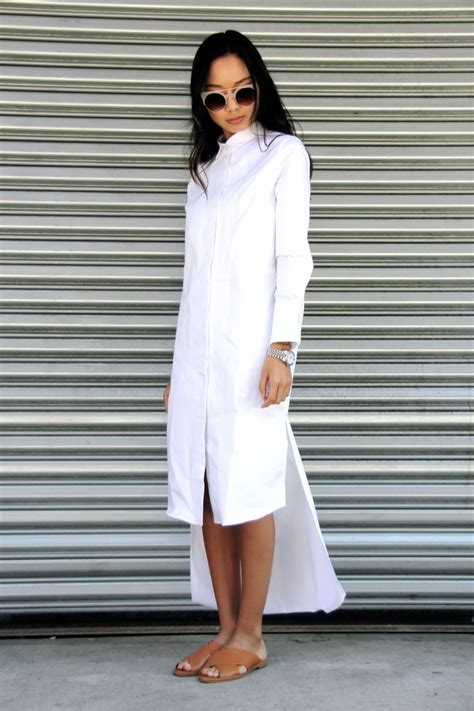 Dress White Zara Copy Syal all white how to wear white and the to