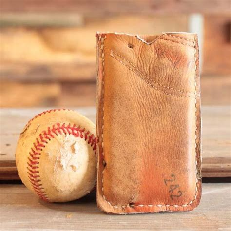 Handmade Baseball Glove - handmade recycled baseball glove iphone gadgetsin