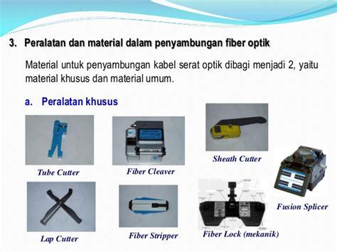 Alat Sambung Fiber Optik Prosedur Penyambungan Fiber Optik Dengan Splicer