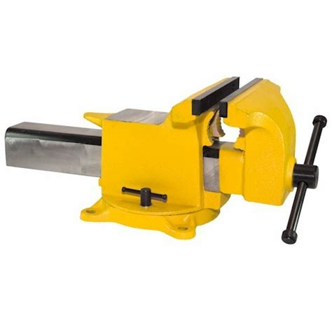 10 bench vise 10 quot high visibility all steel utility combination pipe and