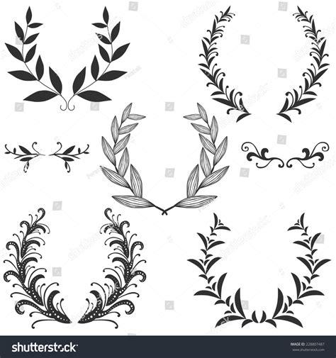 design elements symmetry set symmetrical floral graphic design elements stock