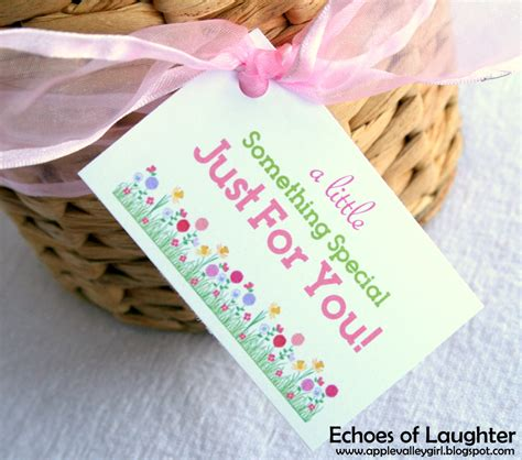 printable tags for gift baskets gardening gift basket free printable tag echoes of laughter