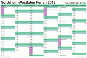 Kalender 2018 Zum Ausdrucken Ferien Nrw Ferien Nordrhein Westfalen 2018 Ferienkalender 220 Bersicht