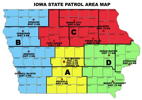 Search Iowa Isp District Map Location