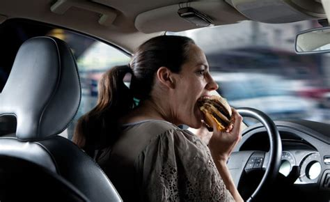 eating while driving deadlier than texting behind the
