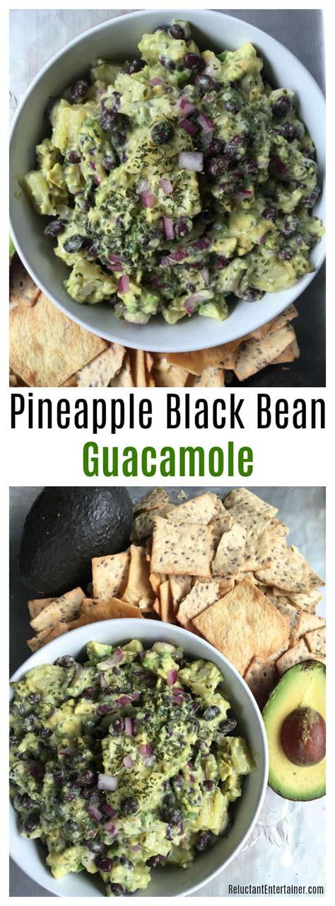 Pineapple Pony Pita Blk easy entertaining pineapple black bean guacamole recipe