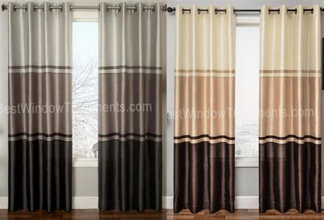 how to make color block curtains granada grommet top curtain panel available in 2 colors