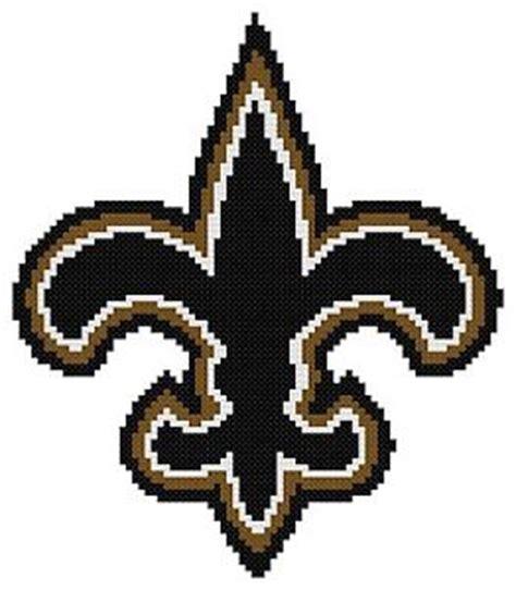 patterned u logo counted cross stitch pattern new orleans saints logo