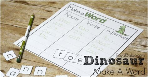 is ok a word in scrabble dinosaur make a word printable for easy writing practice