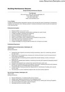 Maintenance Resume Template Build Resume Free Excel Templates