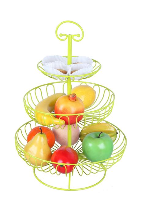 Fruit Rack by Colorful Fruit Rack 3 Tier Steel Layered Free Standing