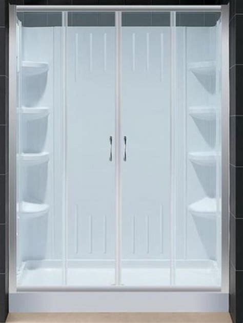 4 Foot Shower Door Dreamline Dl 6109r 01cl Visions Sliding Shower Door With Clear Glass 60 Quot X 72 Quot With Right Drain