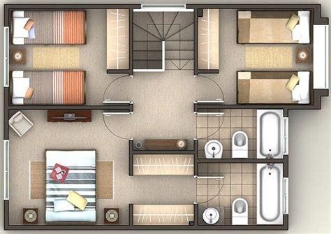 Planner 5d Feet plano de casa de 200 m2 en dos plantas planos pinterest
