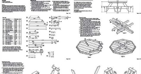 traditional octagon picnic table plans pattern odf