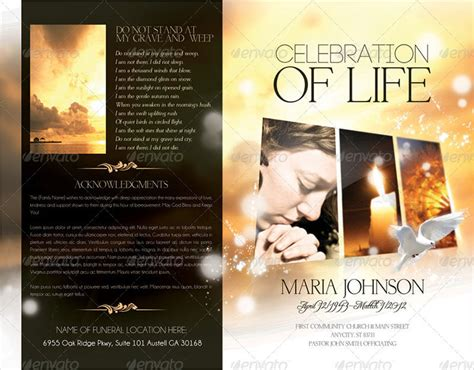 in loving memory powerpoint template funeral brochure