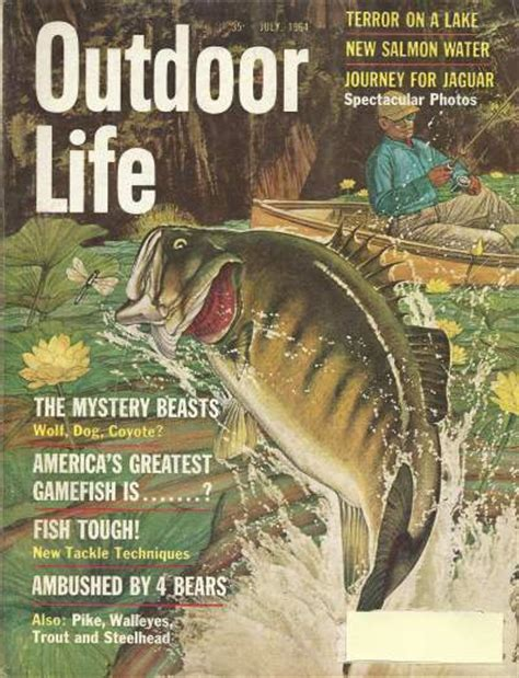 outdoor life vintage outdoor life magazine july 1964 good condition