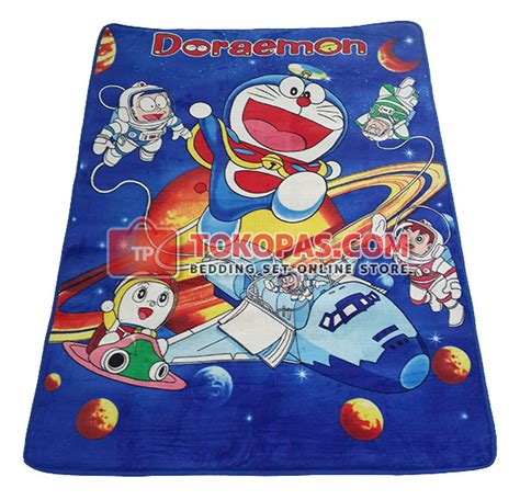 Selimut Halus Salur Cap Daun karpet selimut bulu halus lembut motif kartun bunga