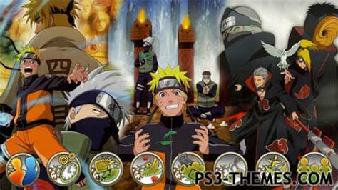 themes do naruto para ps3 ps3 themes 187 dynamic naruto shippuuden theme 2