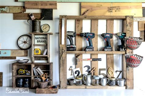 Garage With Apartment Plans Unique organize your tools on an enhanced pallet shelffunky junk