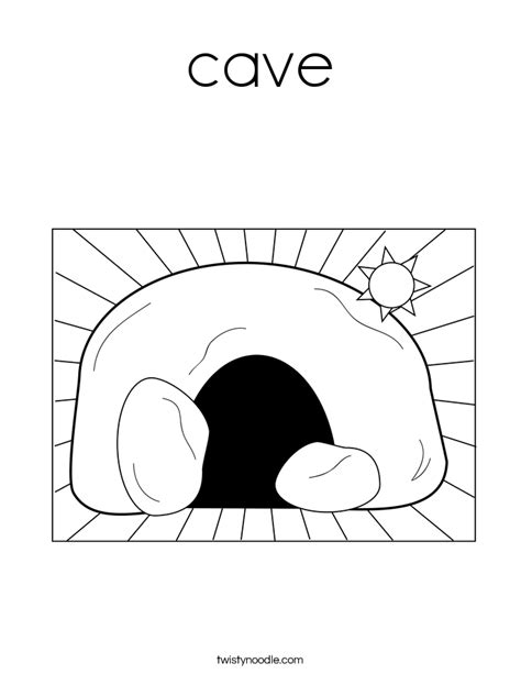 coloring pages of a bear cave cave coloring page twisty noodle