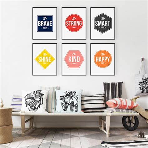 Pajangan Dinding Poster House 01 Pigura Home Decor aliexpress buy colorful minimalist motivational typography quotes a4 prints