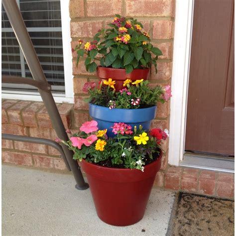 Tiered Flower Planters by 3 Tiered Flower Planter Outside