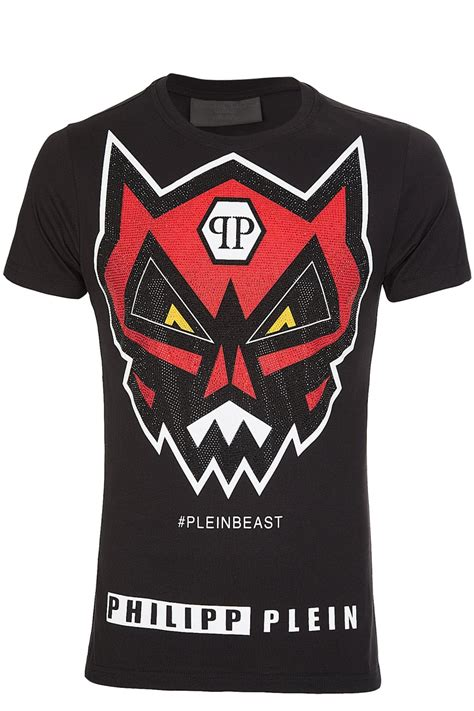 T Shirt Original Angry Wolf Sunglasess Include Box Exclusive philipp plein angry hm342743 black t shirt black