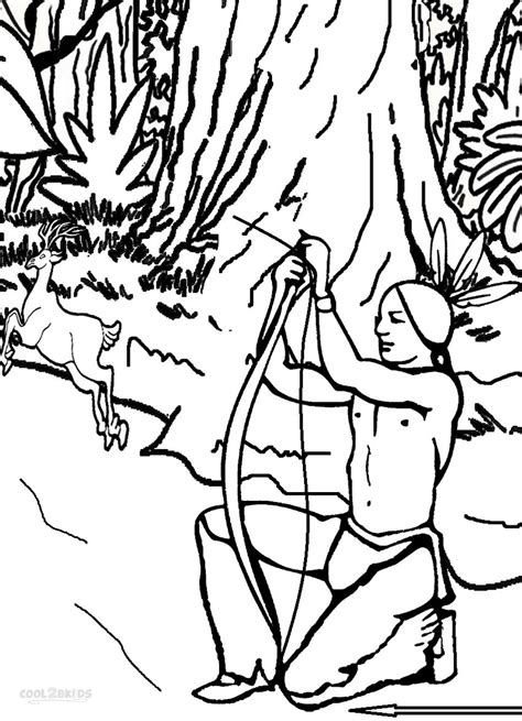 free coloring pages of deer hunters