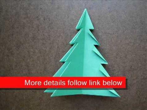 christmas tree paper folding paper folding origami tree 1