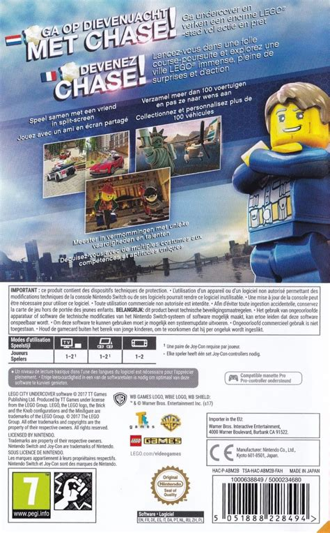 Promo Switch Lego City Undercover lego city undercover 2017 nintendo switch box cover mobygames