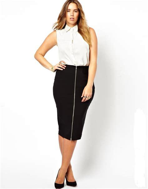 plus size pencil skirt zip decoration skirt for