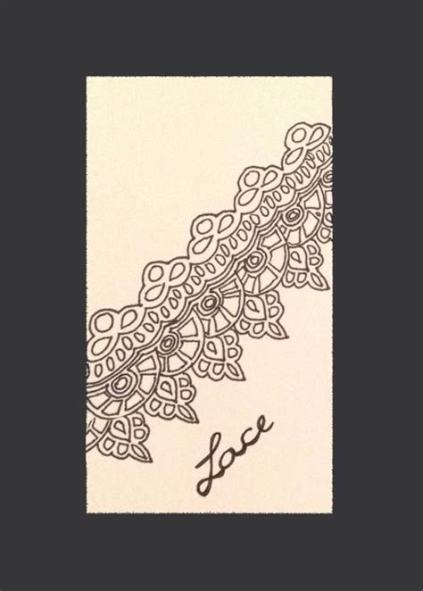 lace pattern sketch how to draw pretty beautiful lace desenho