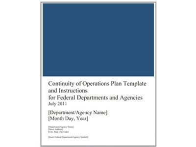 White House Continuity Of Government Plan And National Coop Exercise Continuity Of Operations Plan Template