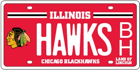 Cyberdriveillinois Vanity Plate by Chicago Blackhawks License Plates