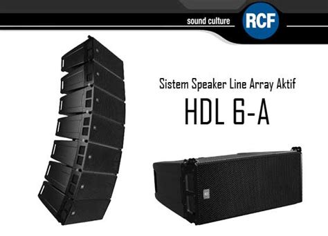 Speaker Aktif Line Array speaker line array aktif rcf hdl 6 a paket sound system profesional indonesia