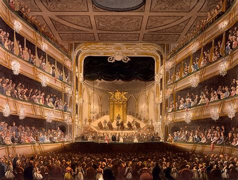 arts theatre covent garden covent garden theater painting by pugin and rowlandson