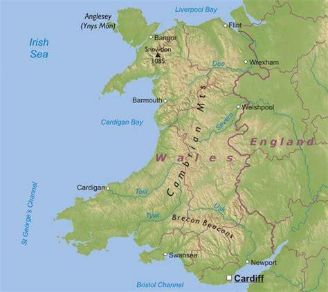 map of wales wales cymru svennie