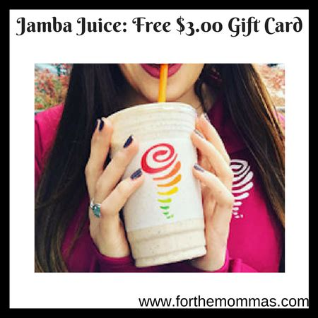 Jamba Juice Gift Card Promotion - jamba juice free 3 00 gift card ftm
