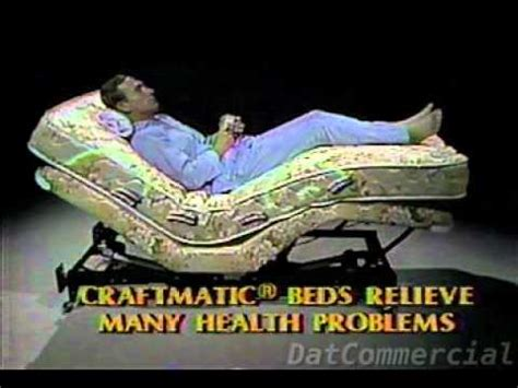 craftmatic adjustable bed commercial 1985