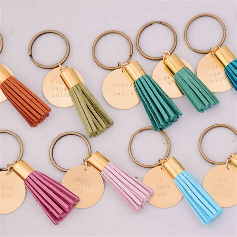 kappa delta sorority tassel keychain a list designs