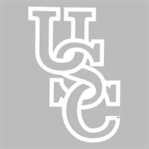 Usc Gamecock Outline by South Carolina Gamecocks Usc Small Decal White