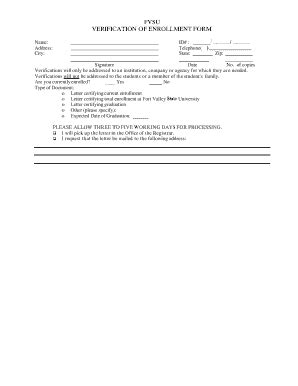 Verification Letter For Student Fort Valley State Print Application Fill Printable Fillable Blank Pdffiller