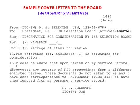 Navy Evaluation Late Letter Npc Fy11 E9 And E8 Selection Board Brief