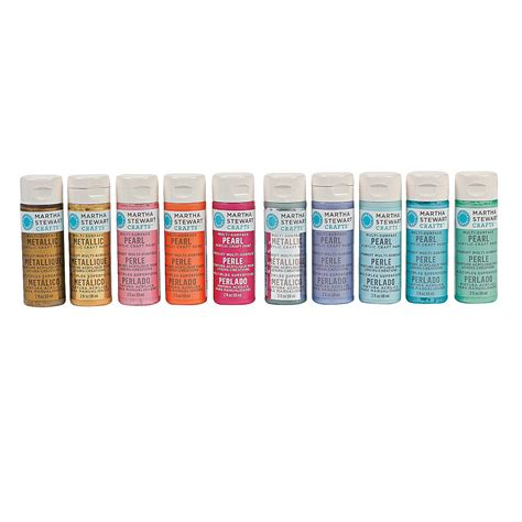 martha stewart crafts pearl metallic acrylic paint set trading discontinued