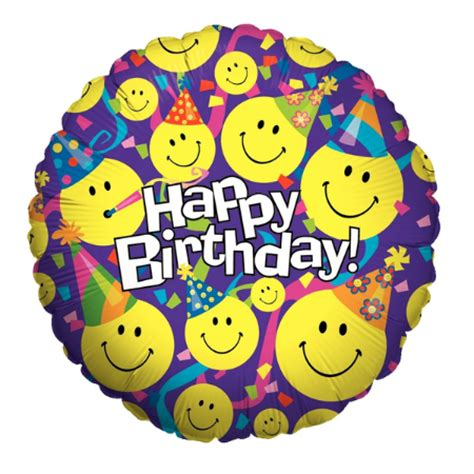 Balon Foil Emoji Birthday emoji happy birthday foil balloon supplies