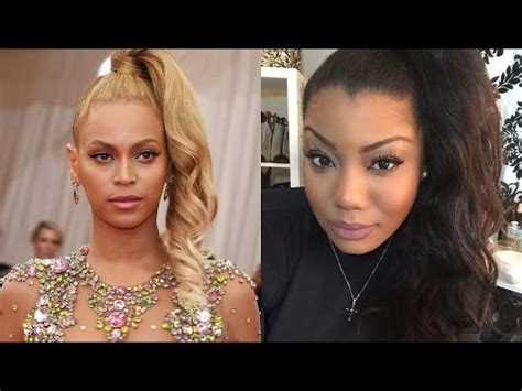 beyonce one sided weaving beyonce curly ponytail www pixshark com images