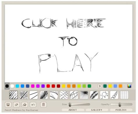 drawing games pencil madness flash game flash drawing games