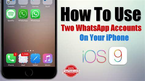 whatsapp accounts   iphone