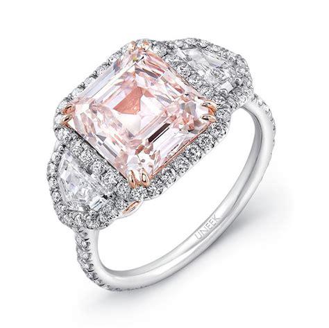 natureal platinum pink emerald engagement ring lvs8881