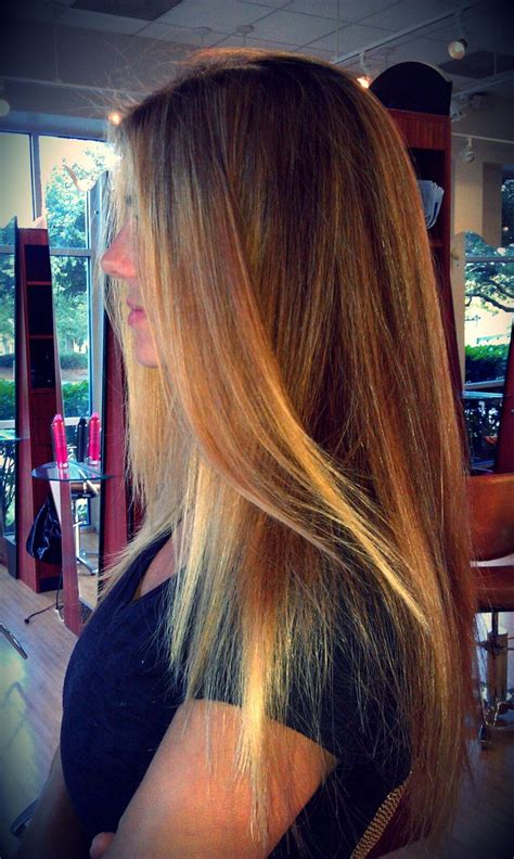 blonde balayage highlights straight hair blonde brown balayage highlights long hair color